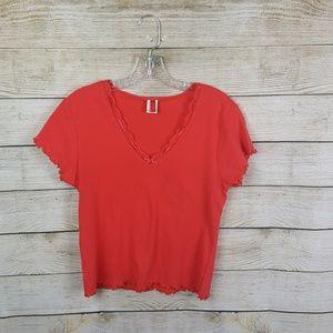 Tops - Josie orange short tshirt